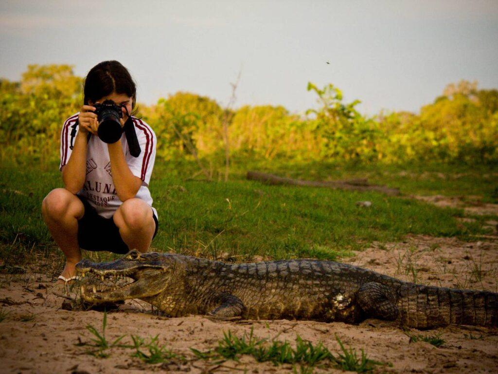 Contato com a vida selvagem na Pousada Pequi. Foto: Visit Pantanal
