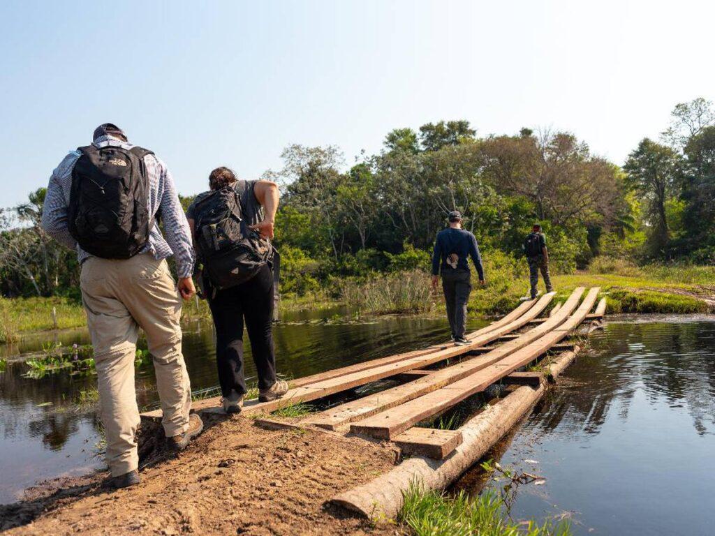 Trilhas são opção de atrativo na Pousada Xaraés. Foto: Visita Pantanal